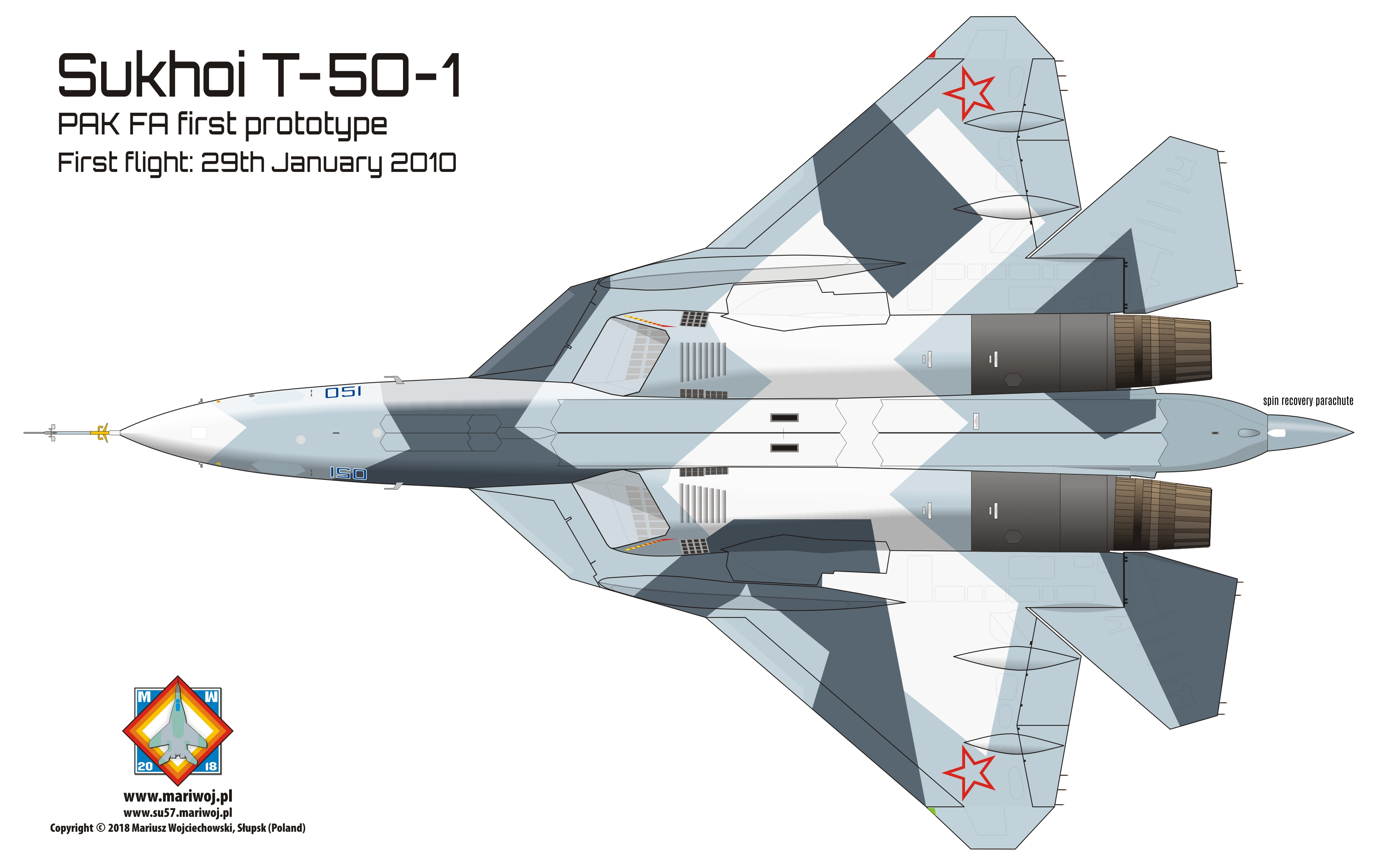 Russian Air Force >> Sukhoi Su-57 in colours (PAK FA, Prospective Air Complex of Front-Line Aviation). Sukhoi Su-57 ...