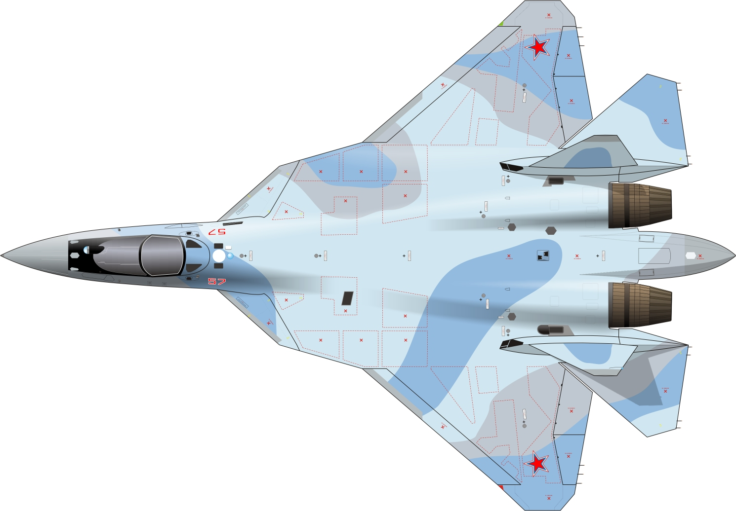 Sukhoi Su-57 fictious camouflage